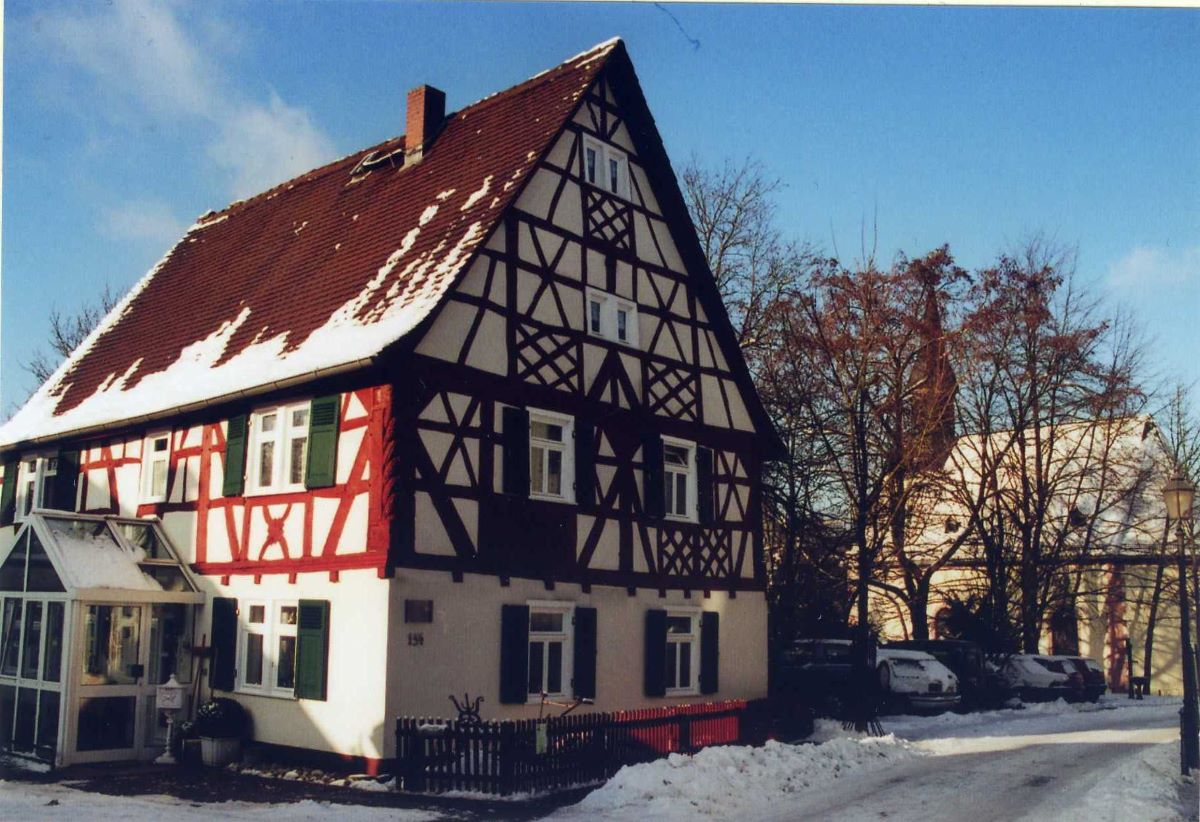 Ansicht des ältesten Hauses in Hornau
